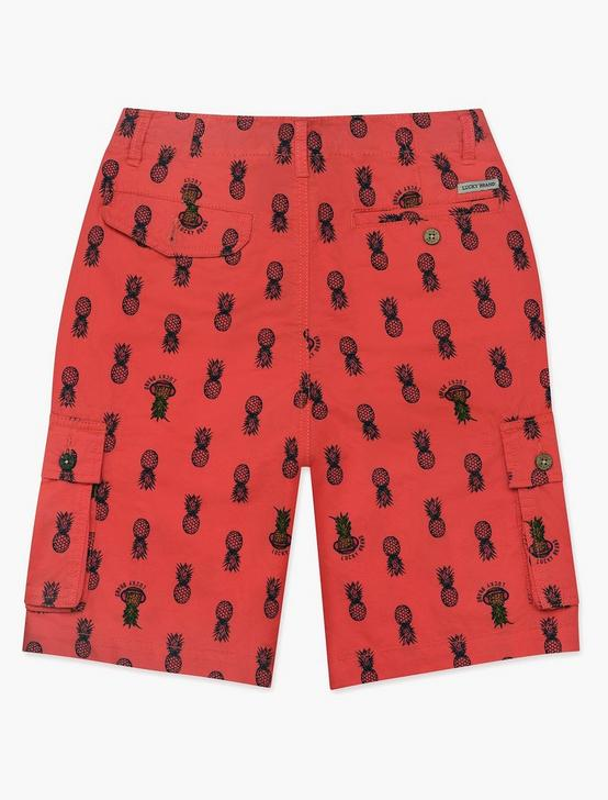 LITTLE BOYS 5-7 CARGO SHORTS, BRIGHT RED, productTileDesktop