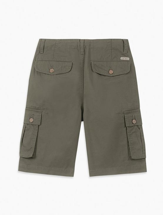 LITTLE BOYS 4T-4T CARGO SHORT, DARK GREEN, productTileDesktop