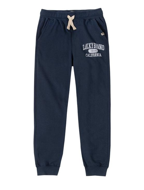 BOYS S-XL VARSITY TRACK PANT, DARK BLUE, productTileDesktop