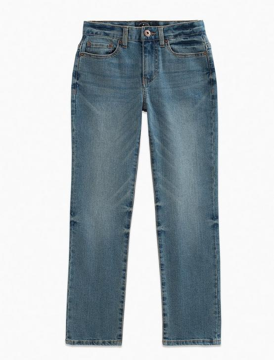 BOYS 8-20 5 POCKET DENIM PANT STRAIGHT JEANS, LIGHT BLUE, productTileDesktop