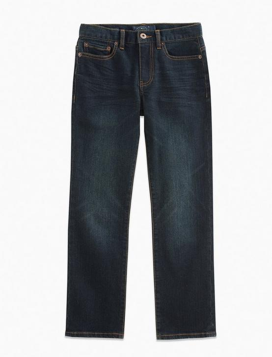 BOYS CLASSIC STRAIGHT JEANS, DARK BLUE, productTileDesktop