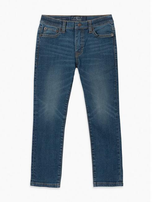 BOYS 2T-7 7 POCKET DENIM PANT AUTHENTIC SKINNY, MID-BLUE