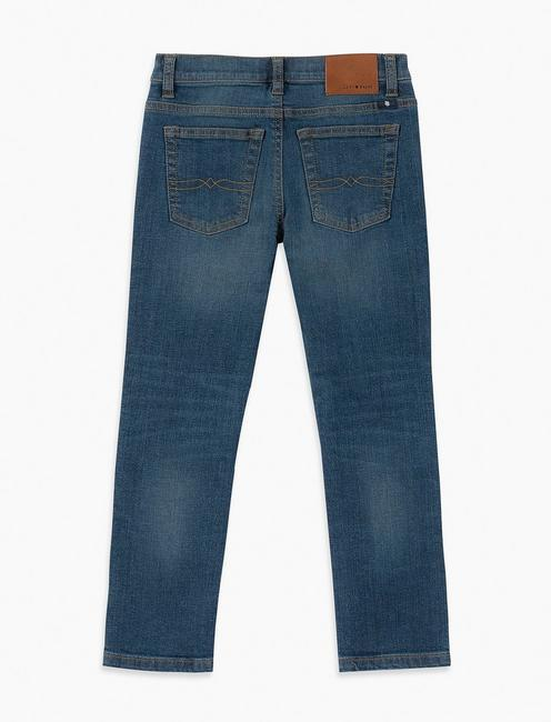 LITTLE BOYS 2T-7 7 POCKET DENIM PANT AUTHENTIC SKINNY, MID-BLUE