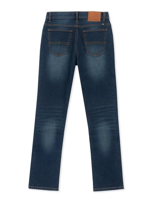 LITTLE BOYS 5 POCKET DENIM PANT AUTHENTIC SKINNY, DARK BLUE