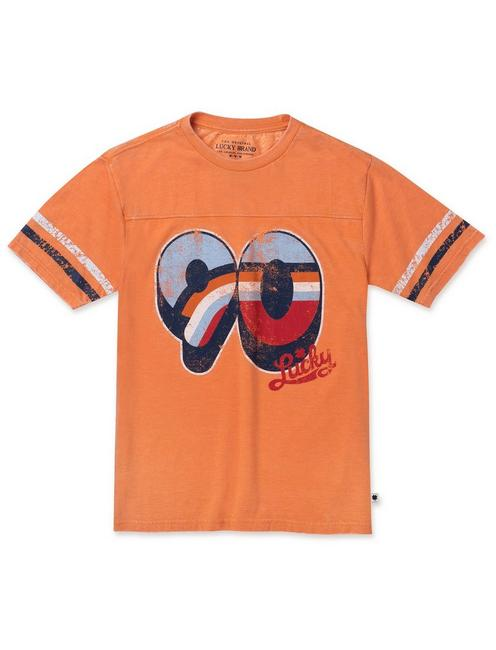 BOYS S-XL LEO TEE, DARK ORANGE