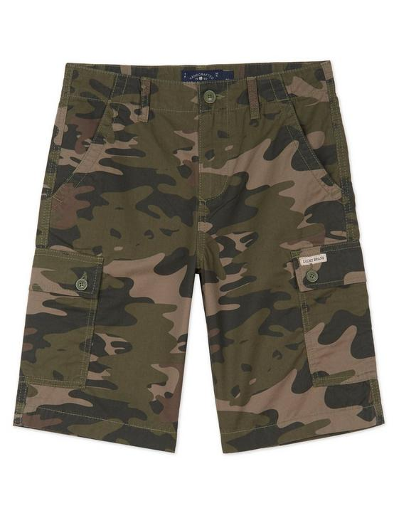 LITTLE BOYS 4-7 CARGO SHORTS, DARK GREEN, productTileDesktop