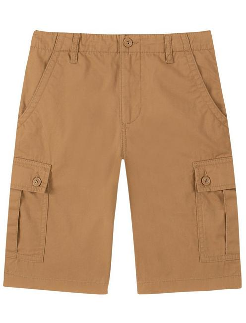 BOYS 8-16 CARGO SHORTS, MEDIUM DARK BROWN
