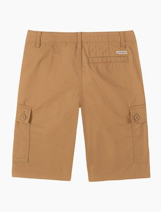 BOYS 8-16 CARGO SHORTS, MEDIUM DARK BROWN, productTileDesktop