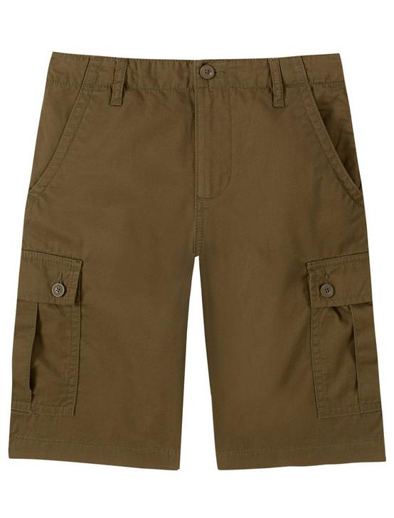 BOYS 8-16 CARGO SHORTS, DARK GREEN, productTileDesktop