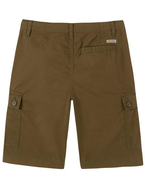 BOYS 8-16 CARGO SHORTS, DARK GREEN