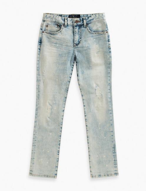 41036c5455 Denim Pants With Paint Splatter