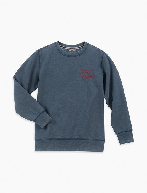 BOYS 2T-7 PATCHES AND CHEST GRAPHIC CREWNECK,