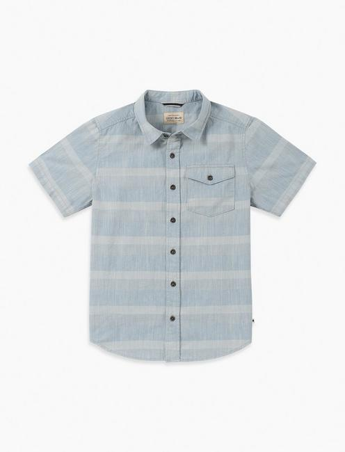 BOYS S-XL LIAM SLUB SHIRT,