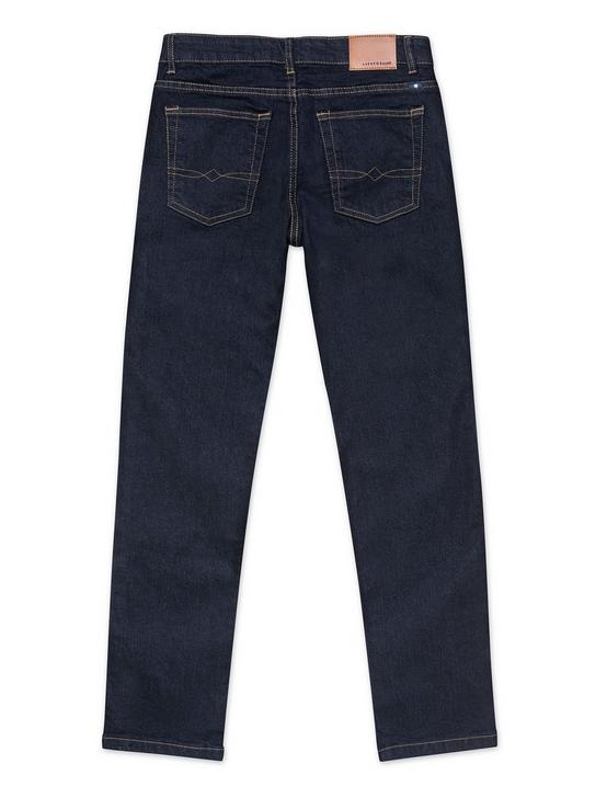 LITTLE BOYS 5-7 CLASSIC STRAIGHT JEANS, NAVY, productTileDesktop