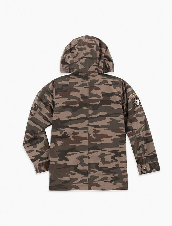 BOYS S-XL UTILITY CAMO JACKET, MEDIUM DARK GREEN, productTileDesktop