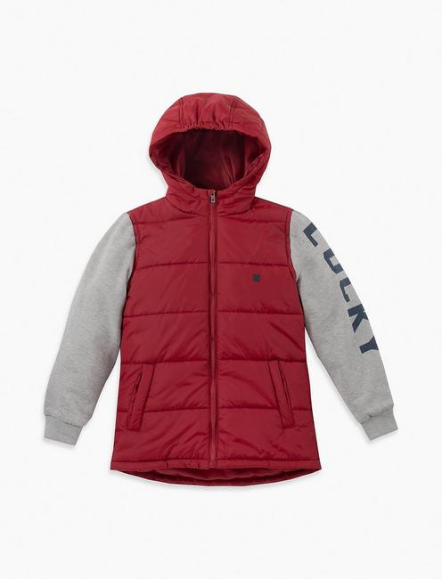 LITTLE BOYS 5-7 MIX MEDIA JACKET WITH MIDWEIGHT POLYFILL,