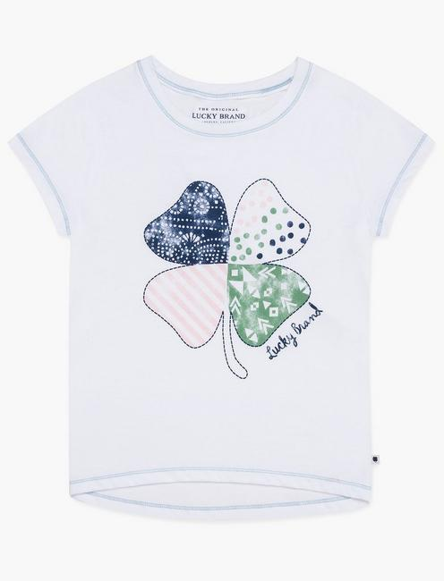 LITTLE GIRLS  5-6X ALANA TEE, NATURAL