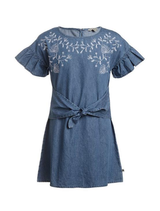 GIRLS S-XL SHIRA DRESS, OPEN BLUE/TURQUOISE, productTileDesktop
