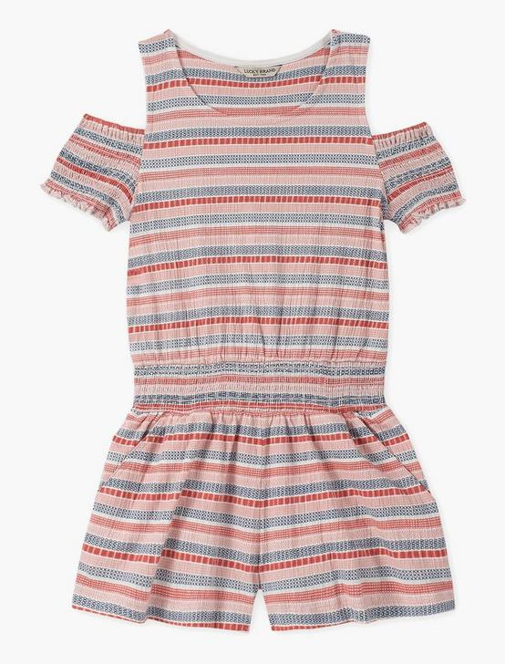 GIRLS S-XL FIONA ROMPER, DARK ORANGE, productTileDesktop