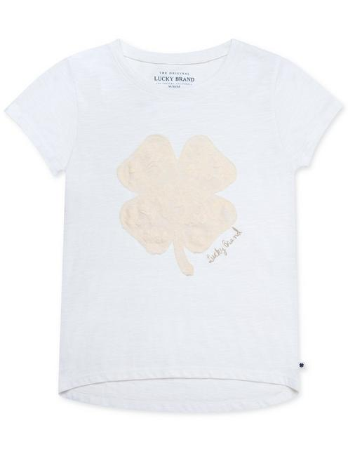 LITTLE GIRLS 5-6X AIRANNE TEE, PEARL