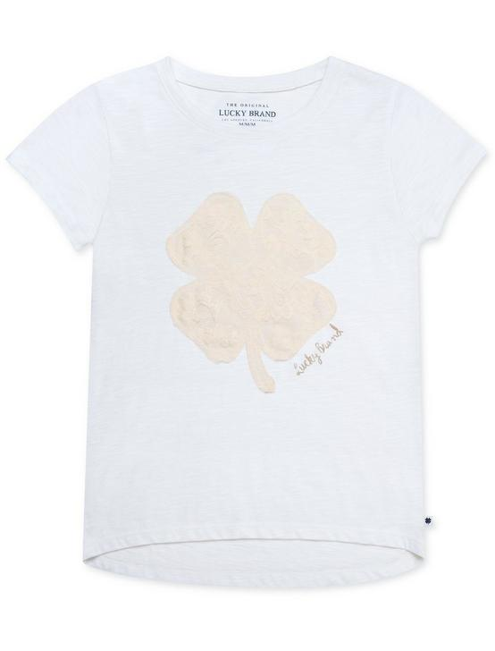 LITTLE GIRLS 5-6X AIRANNE TEE, PEARL, productTileDesktop