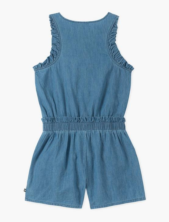 LITTLE GIRLS 5-6X PEARL ROMPER, BLUE MULTI, productTileDesktop