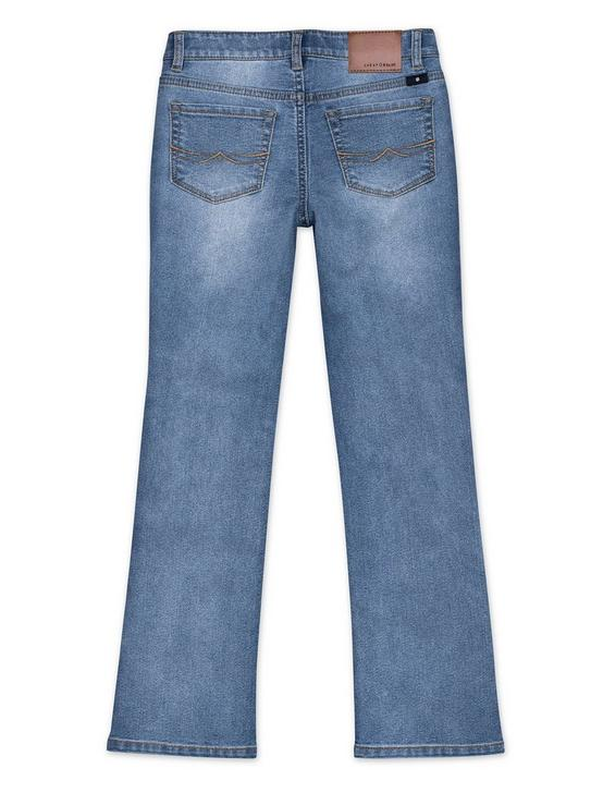 LITTLE GIRLS  5-6X BOOTCUT JEANS, TURQUOISE/AQUA, productTileDesktop