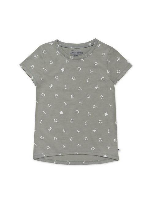 GIRLS S-XL EMILIA TEE, MEDIUM LIGHT GREEN