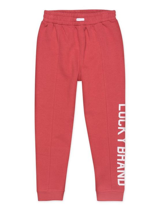 LITTLE GIRLS 5-6X GIADA SEAMED JOGGER, DARK RED, productTileDesktop