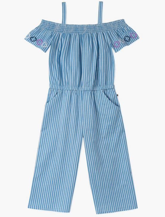 GIRLS 7-16 CHANTEL ROMPER, OPEN BLUE/TURQUOISE, productTileDesktop