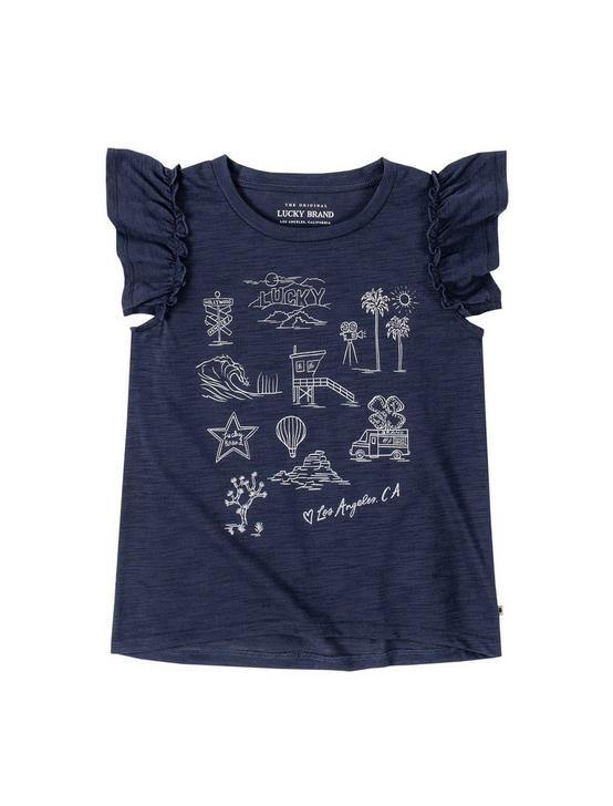 GIRLS S-XL CAPIN TEE