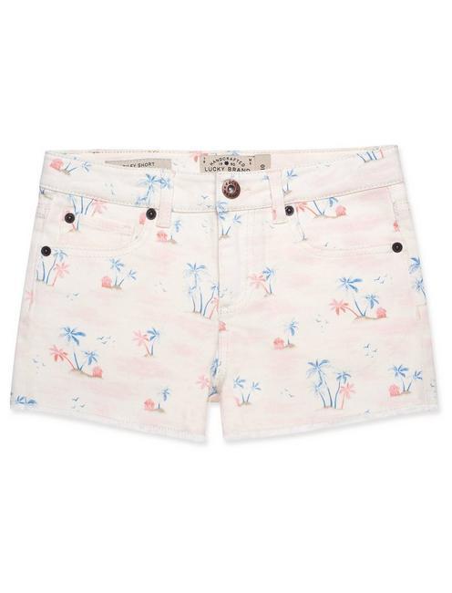 LITTLE GIRLS 5-6X JAN SHORTS, PEARL