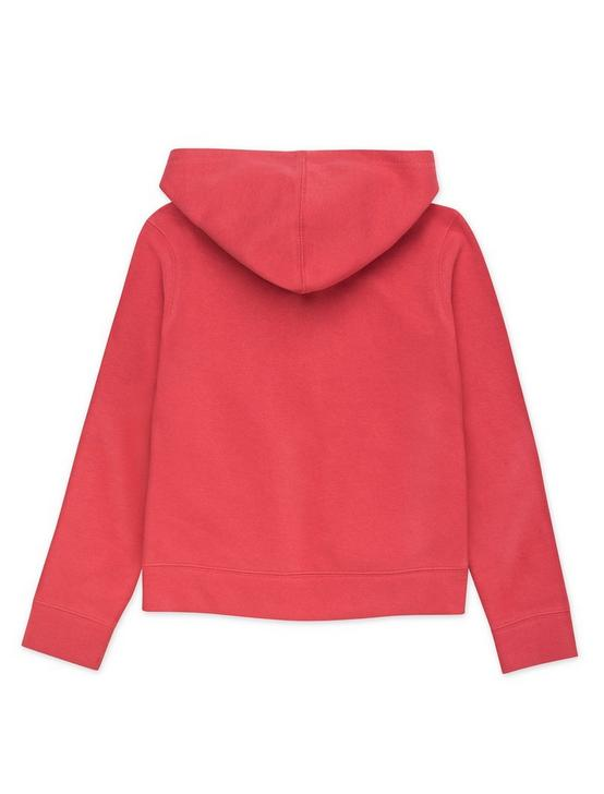 GIRLS S-XL CARTER HOODIE, DARK RED, productTileDesktop