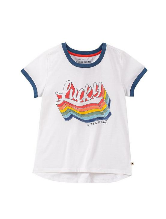 GIRLS S-XL FELICITY TEE, PEARL, productTileDesktop