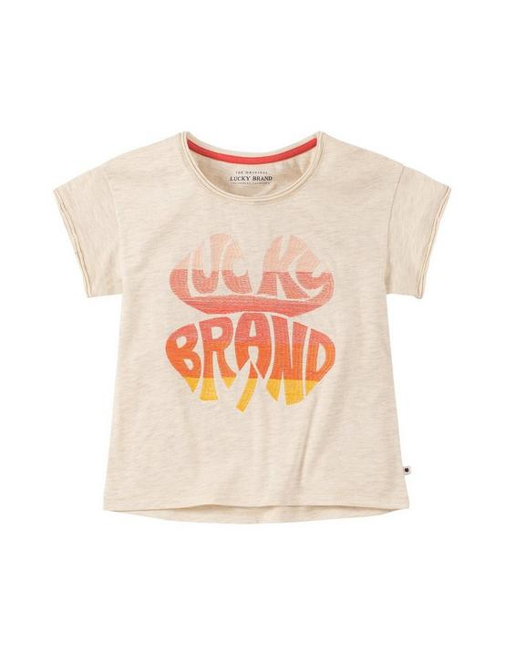 GIRLS S-XL FRIEDA TEE, OPEN WHITE/NATURAL, productTileDesktop