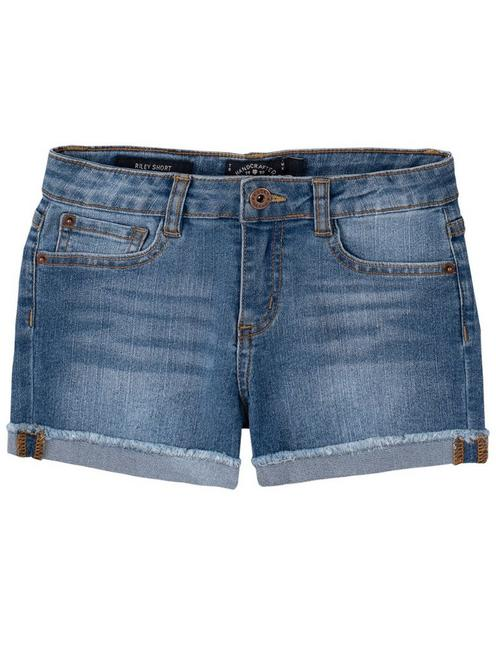 LITTLE GIRLS 4-6X RILEY CORE SHORTS, MEDIUM BLUE
