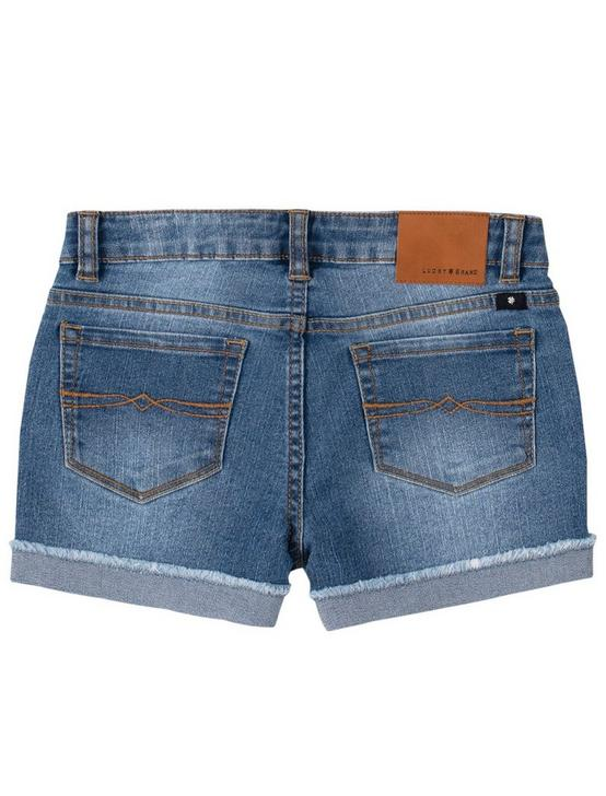 LITTLE GIRLS 4-6X RILEY CORE SHORT, MEDIUM BLUE, productTileDesktop