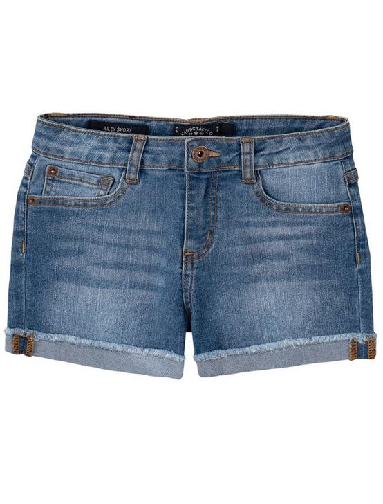 GIRLS 7-14 RILEY CORE SHORT, MEDIUM BLUE, productTileDesktop