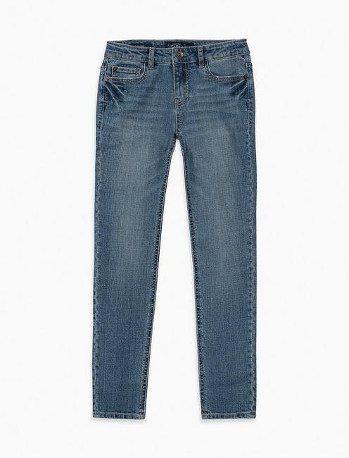 GIRLS 7-16 ZOE JEANS, NAVY