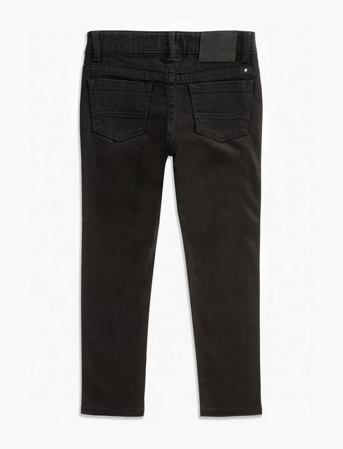 GIRLS ZOE TWILL PANT, BLACK