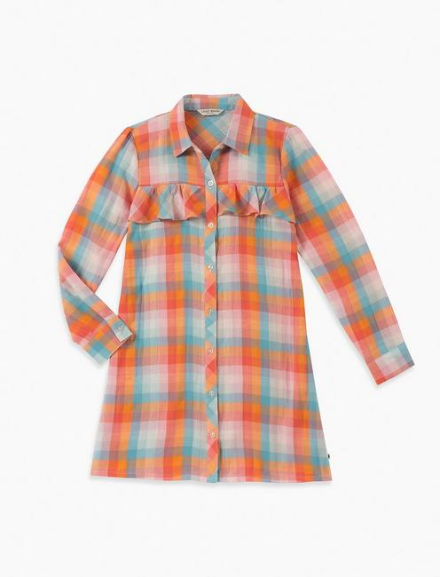 GIRLS S-XL ASTRID PLAID DRESS,