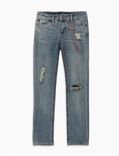 GIRLS 7-16 GISELLE JEANS, NAVY
