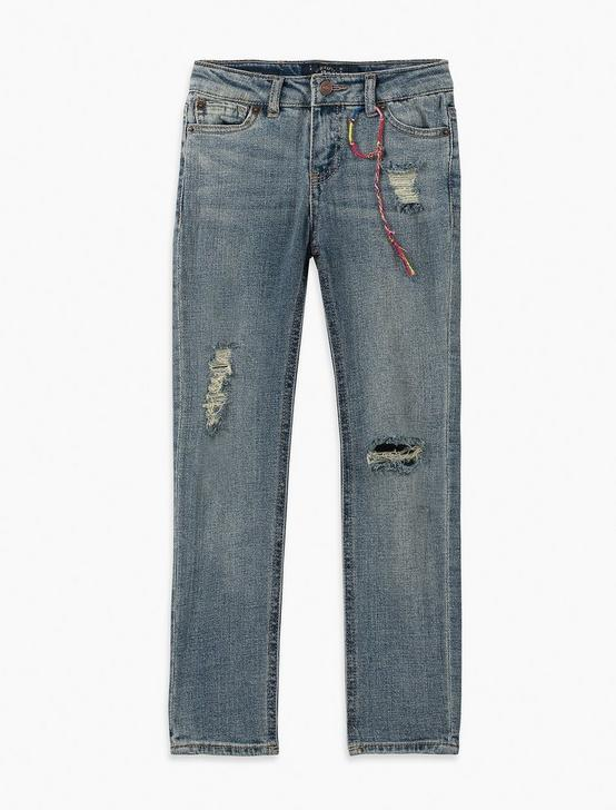 LITTLE GIRLS 2T-6X GISELLE JEANS, NAVY, productTileDesktop