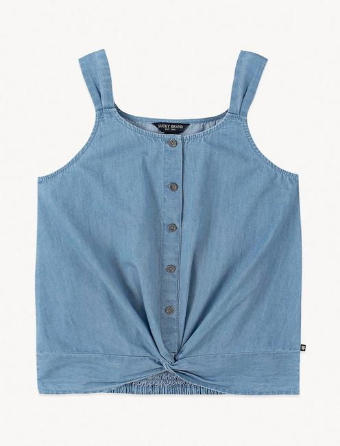 GIRLS S-XL BETTY CAMI, OPEN BLUE/TURQUOISE