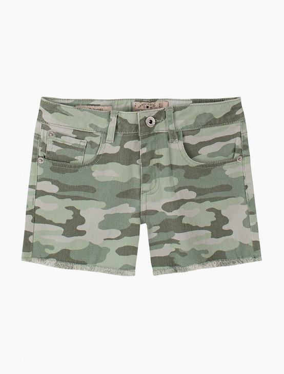 GIRLS 7-16 CLARISSA SHORTS, DARK GREEN, productTileDesktop