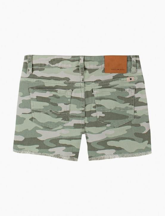 GIRLS 7-16 CLARISSA SHORT, DARK GREEN, productTileDesktop