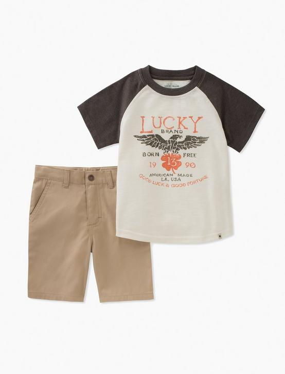BASEBALL LUCKY TEE & SHORTS SET