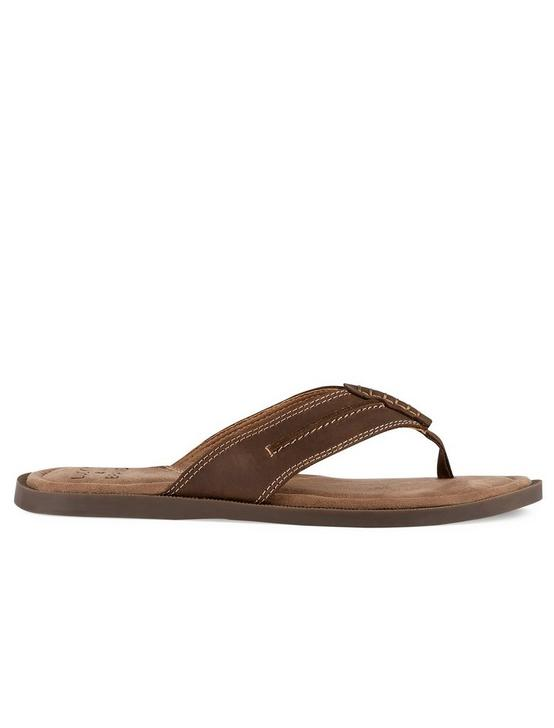 BARLOW FLIP FLOP SANDAL, DARK BROWN, productTileDesktop
