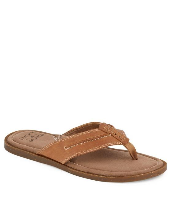 BARLOW FLIP FLOP SANDAL, MEDIUM BROWN, productTileDesktop