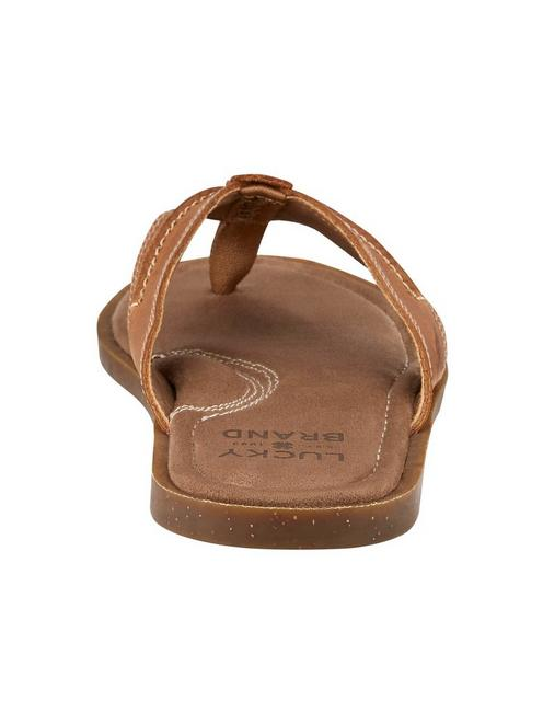 BARLOW FLIP FLOP SANDAL, MEDIUM BROWN
